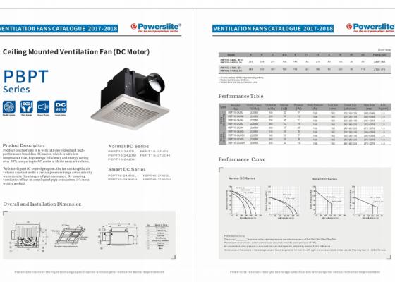 Ceiling Mounted Ventilation Fan (DC Motor)
